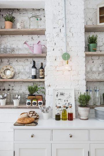 cocinas en ladrillo rustico y cemento