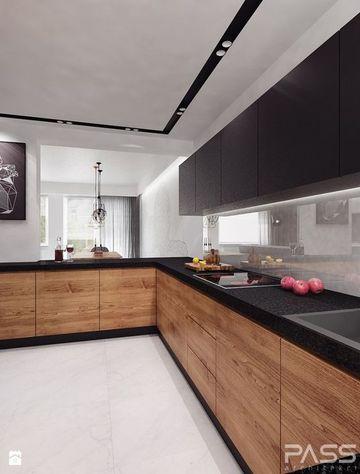 colores cocinas modernas blanco y negro