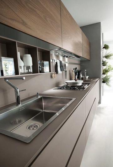 colores cocinas modernas en tonos grises