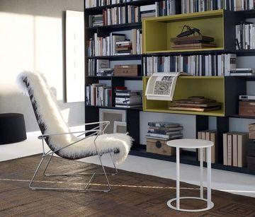 como decorar una biblioteca elegante