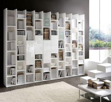 como decorar una biblioteca moderna