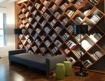 como decorar una biblioteca original