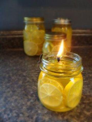 como hacer una lampara de aceite y limon