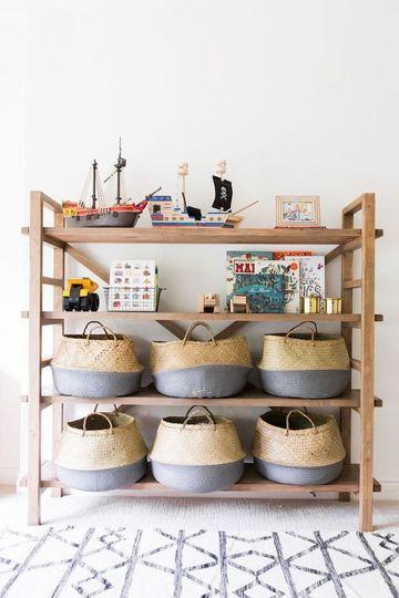 estantes para juguetes de niños de madera