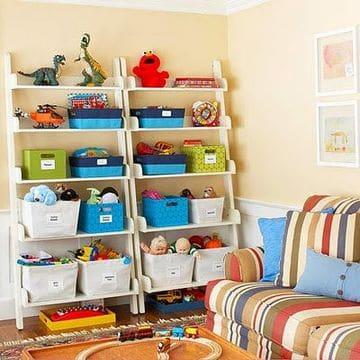 estantes para juguetes de niños de repisas
