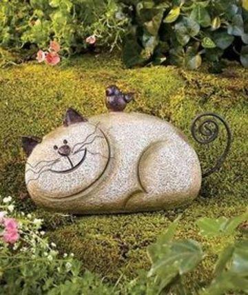 figuras para jardin de animales hechos con piedras