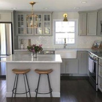 gabinetes para cocina pequeña contemporaneos