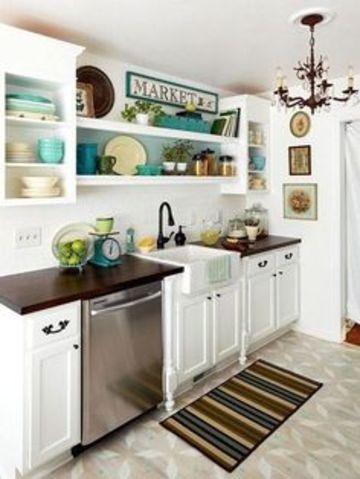 gabinetes para cocina pequeña en blanco