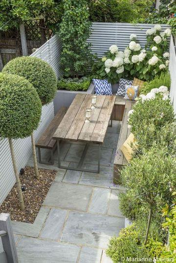 jardines en terrazas pequeñas con flores
