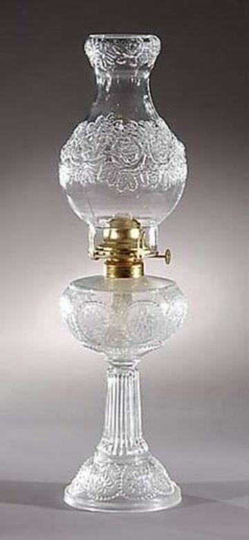 lamparas de aceite antiguas de cristal