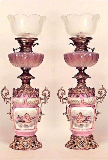 lamparas de aceite antiguas victorianas