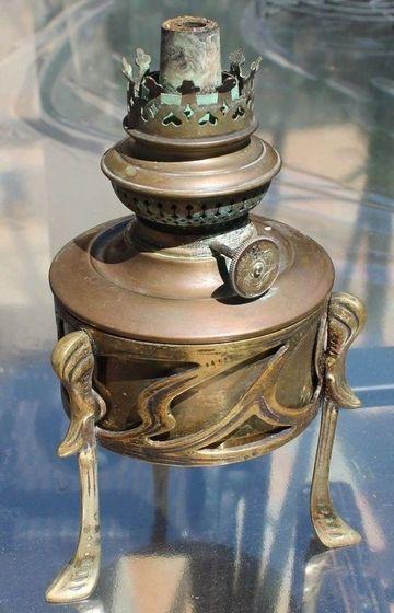 lamparas de petroleo antiguas de bronce