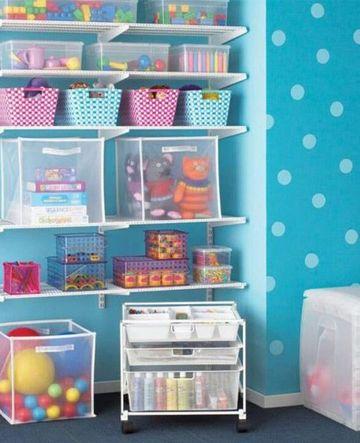 organizador de juguetes para niños con contenedores