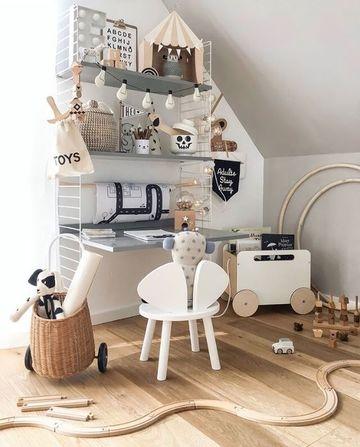 organizador de juguetes para niños en madera