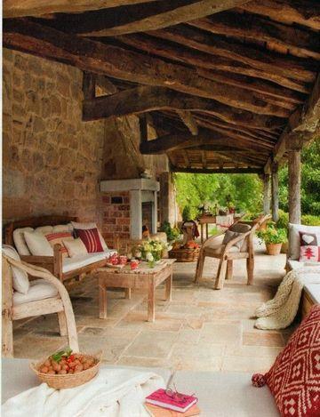 terrazas de madera rusticas bonitas