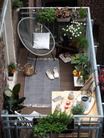 terrazas pequeñas con encanto y sencillas