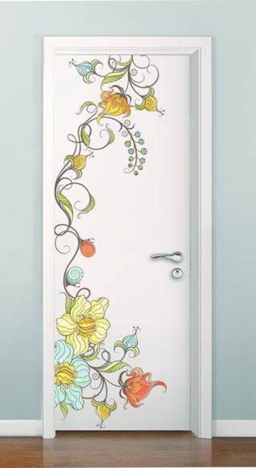 vinilos decorativos para puertas de habitaciones