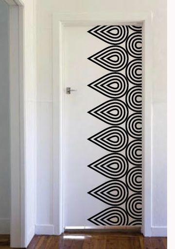 vinilos decorativos para puertas del baño