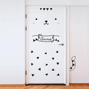 vinilos decorativos para puertas infantiles