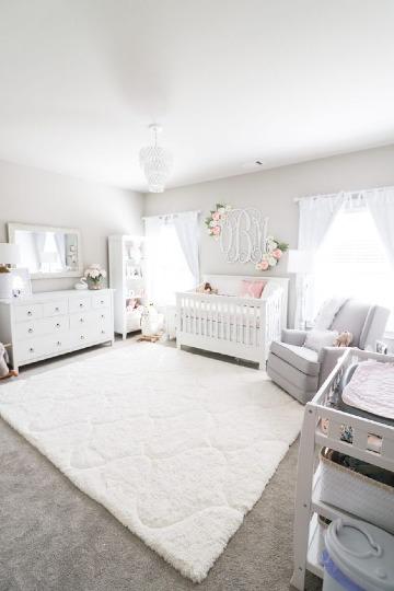 Colores y adornos para cuartos para bebes modernos