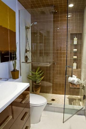 baños en espacios pequeños modernos y elegantes