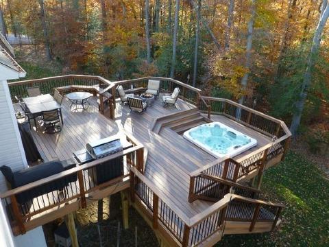 como construir una terraza de madera moderna