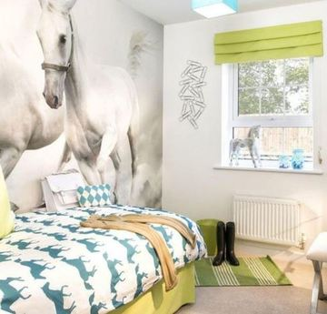 como decorar el cuarto de un niño con caballos
