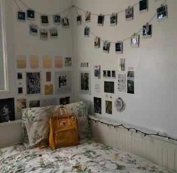 como decorar mi cuarto con fotos polaroid