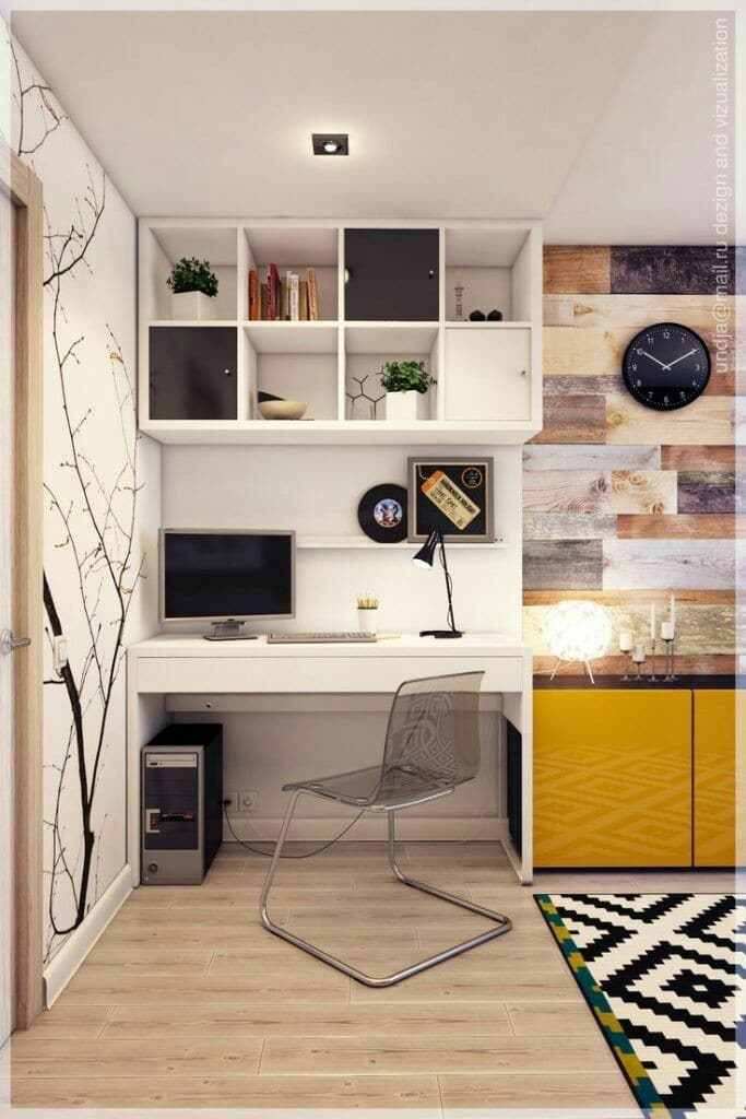como decorar un cuarto de estudio pequeño economico