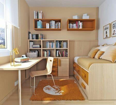 como decorar un cuarto de estudio pequeño en casa