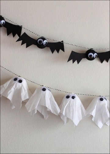 como hacer decoraciones faciles para halloween