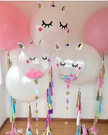 como hacer decoraciones para fiestas de unicornio