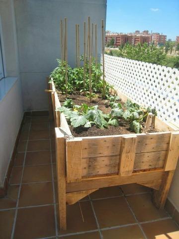 como hacer un huerto en la terraza casero