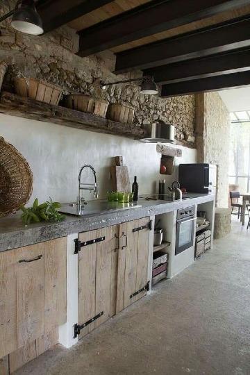 decoracion de cocinas rusticas de cemento