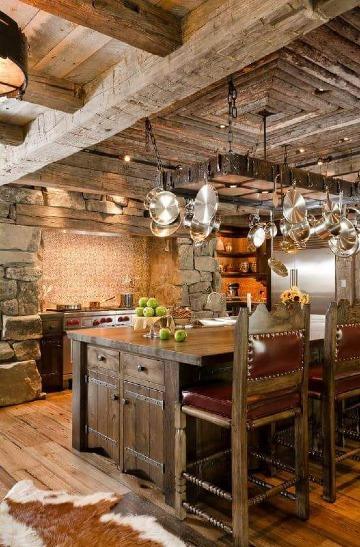 decoracion de cocinas rusticas de madera