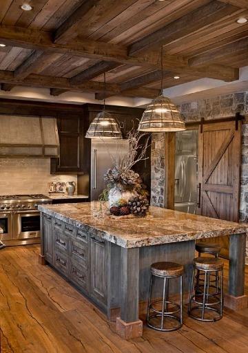 decoracion de cocinas rusticas modernas