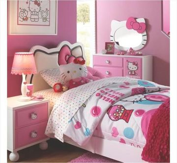 decoracion de dormitorios para niñas de hello kitty