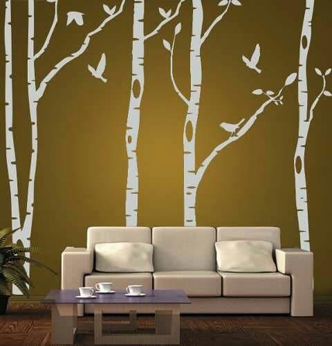 dibujos para decorar paredes de salas modernas
