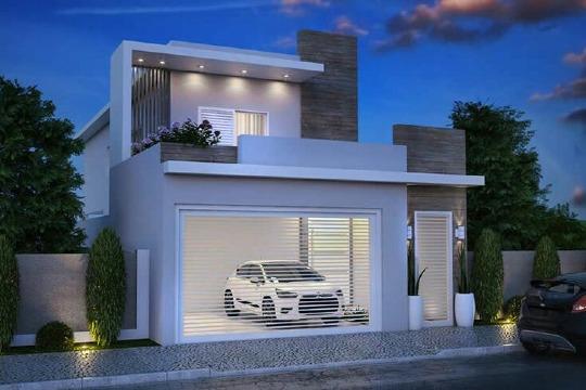 fachadas con balcones modernos para casas pequeñas