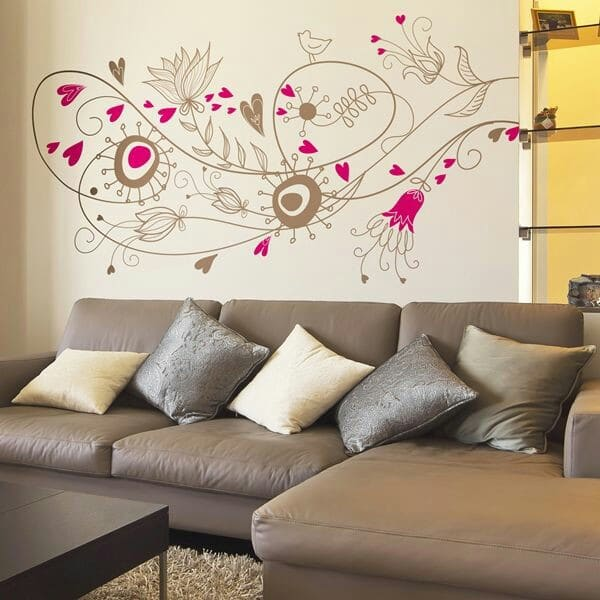 ideas de dibujos para decorar paredes de salas