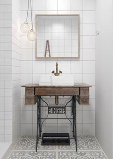 ideas para baños chicos con mueble reciclado