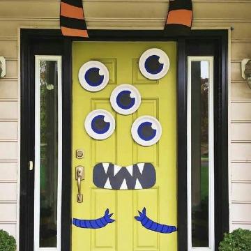 imagenes de como adornar mi puerta para halloween