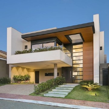 Modernos modelos de casas con terrazas y balcones for Fotos de casas modernas con tejas