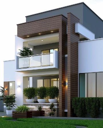 modelos de casas con terrazas modernas