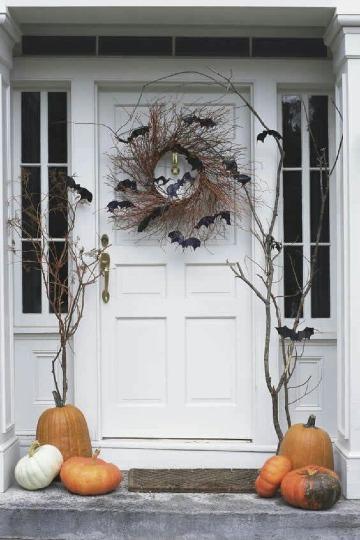 modelos de como adornar mi puerta para halloween
