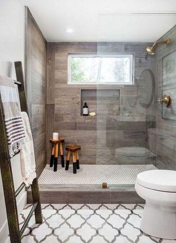 modelos de cuartos de baño rustico y elegante