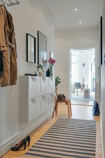 muebles de zapateros estrechos para pasillos