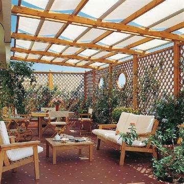 terrazas con pergolas de madera fotos