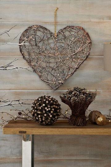 adornos con ramas secas para decorar