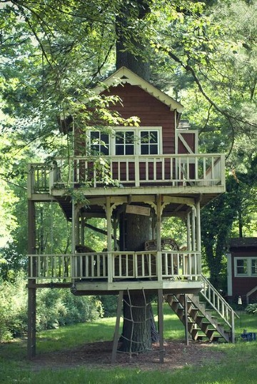 casas de madera en arboles modernas